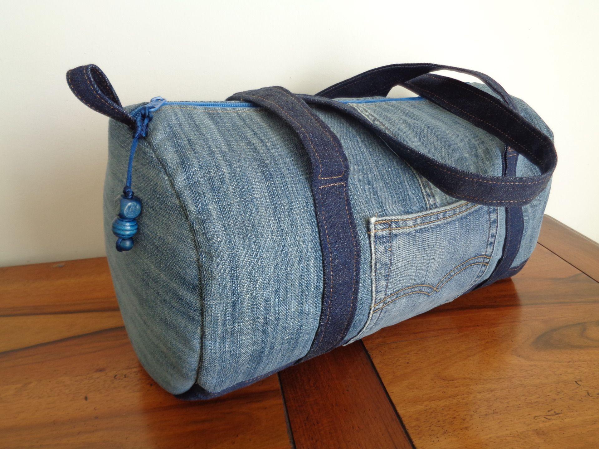 Polochon Recycle Sac Jean En Taille MoyenneJeans P0kXNwn8O