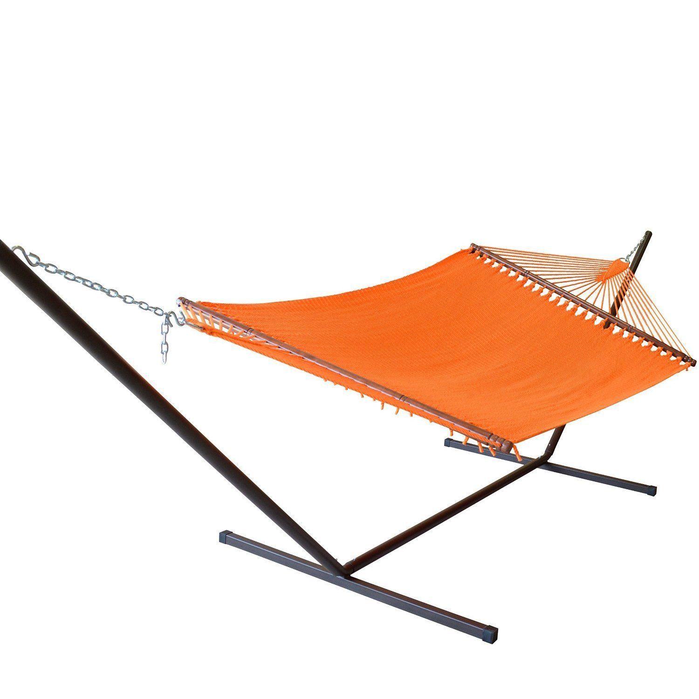 Jumbo caribbean hammock and metal tribeam stand set mocha hammock