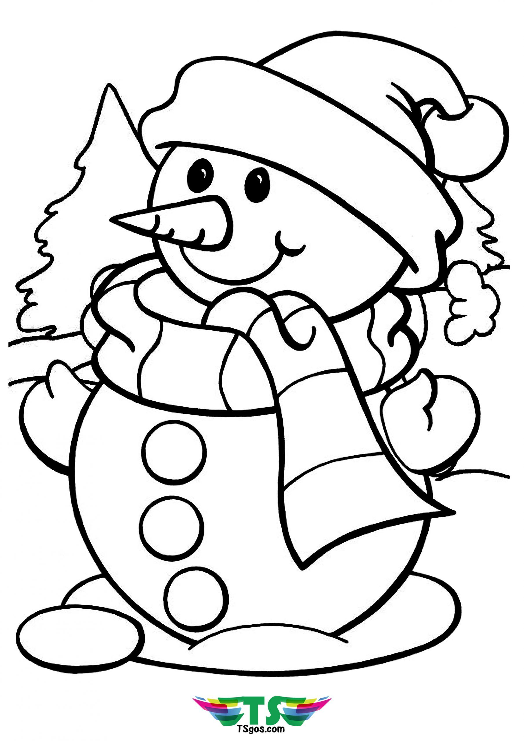 Winter Coloring Page For Kids Coloring Pages Winter Free Christmas Coloring Pages Snowman Coloring Pages
