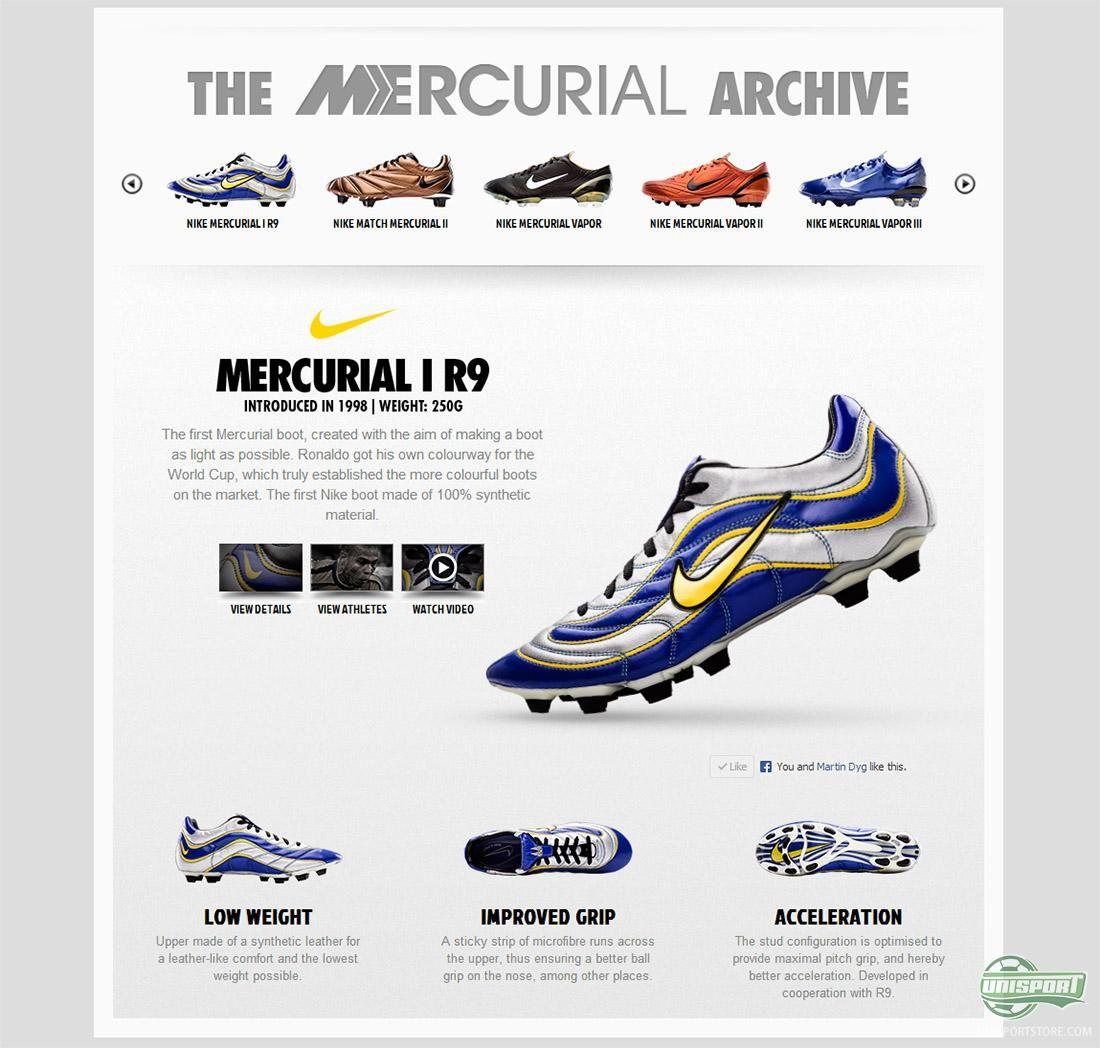 acde9166565b Nike Mercurial I R9. 1998 | Football | Soccer cleats, Football boots ...