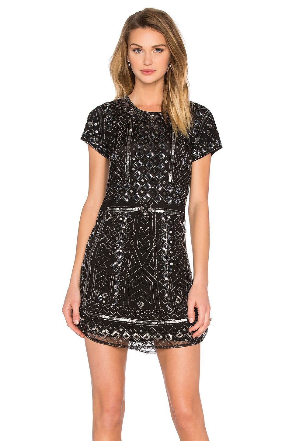 Parker Topaz Sequin Dress in Black | kara\'s closet | Pinterest