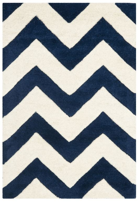 Looking For A Navy Cream Chevron Rug The Baby Nursery Liking This Choice