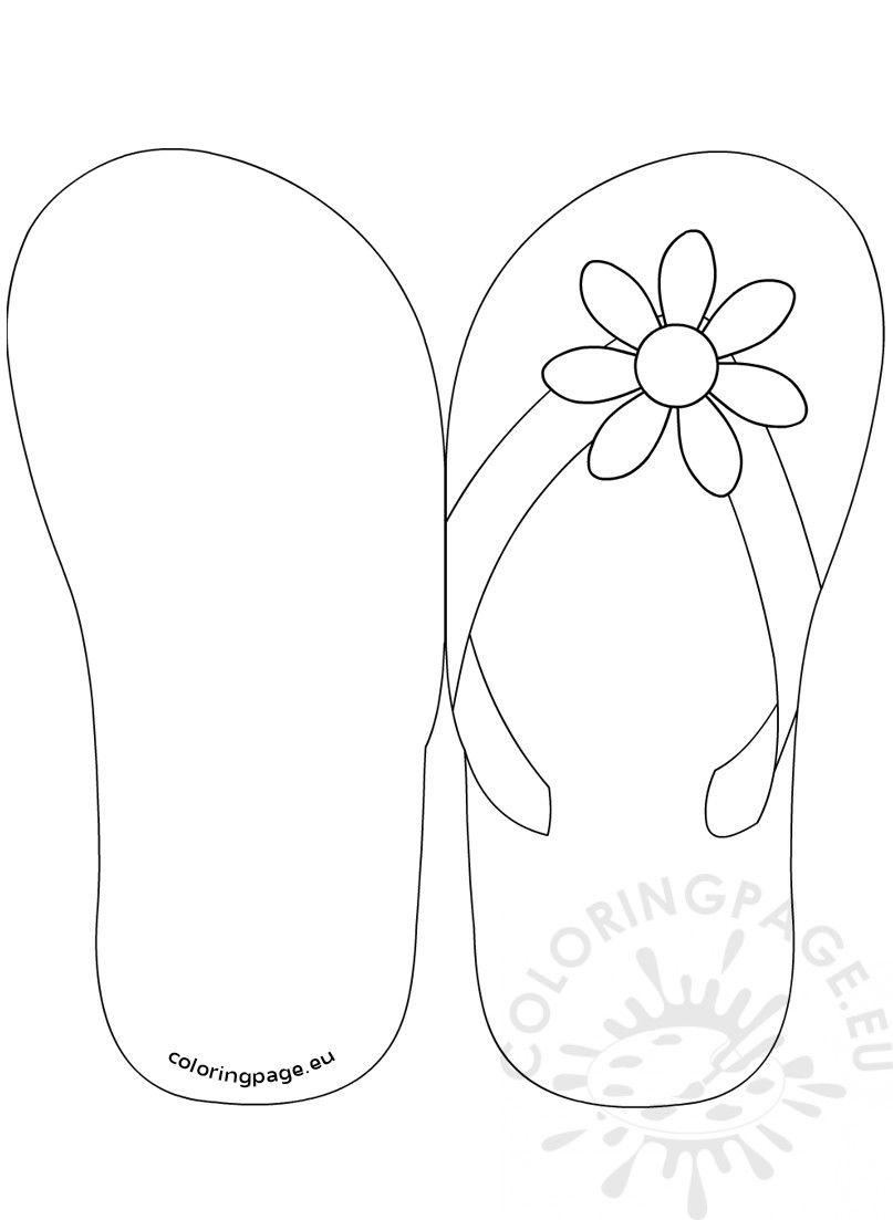 Pin By Kristen Chapman On Carte Flip Flop Cards Flip Flop Craft Fish Coloring Page