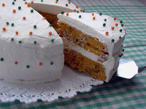 Pastel de zanahoria sin azúcar. (Sugar free carrot cake)