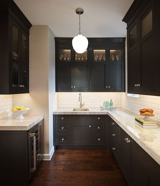 Painting High Gloss Kitchen Cabinets: Black Cabinet Paint Color Cabinetry Is Sherwin Williams