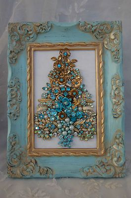 Vintage Jewelry Framed Christmas Tree Something To Do