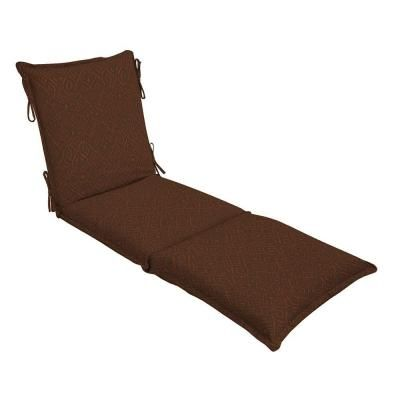 Patio Cushion Ideas - Hampton Bay Cayenne Ikat Flange Outdoor Chaise Lounge Cushion - The Home Depot