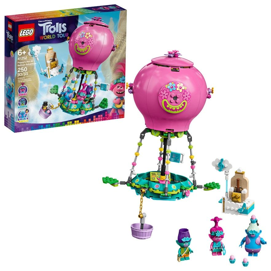 DreamWorks Trolls World Tour Poppy's Hot Air Balloon Adventure 41252 by LEGO