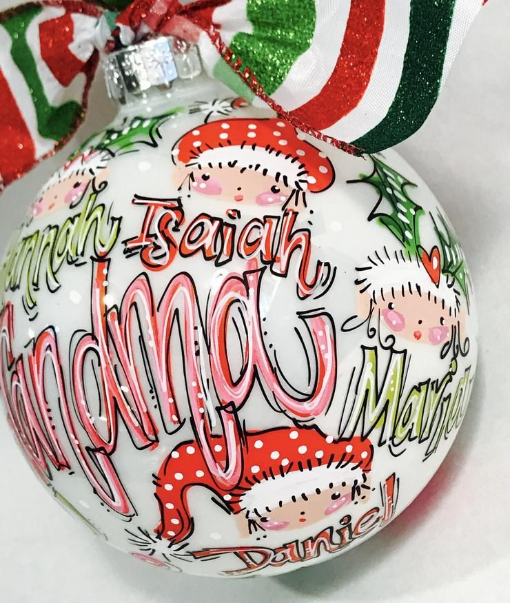 ORNAMENT, PERSONALIZED FAMILY KEEPSAKE Ornament Clear