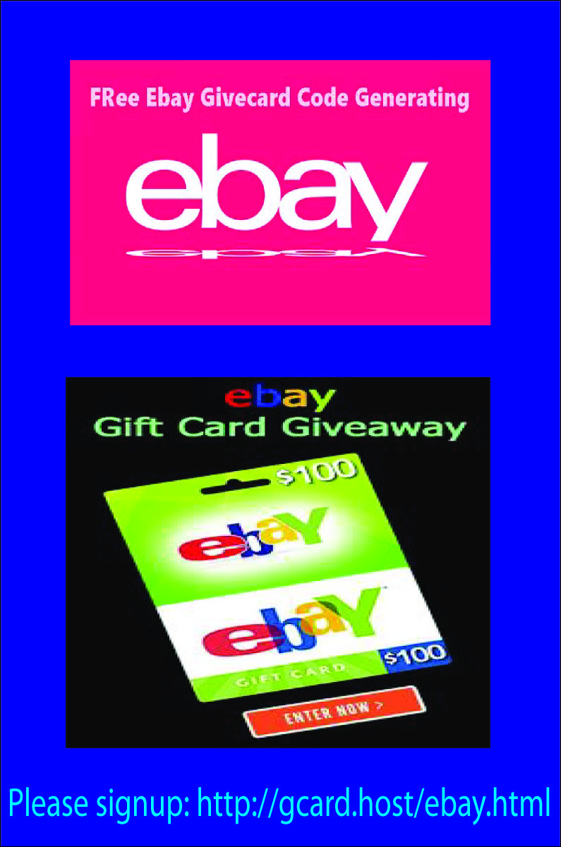 Free Ebay Gift Card In 2020 Ebay Gift Gift Card Generator Gift Card
