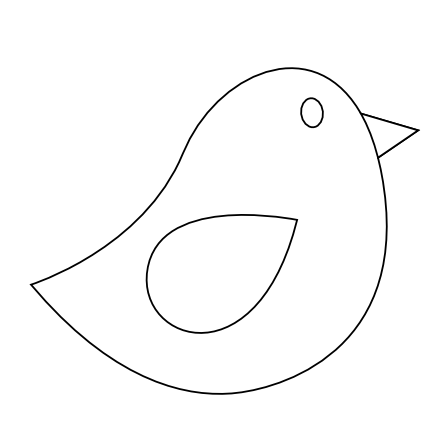 Colorful Animal Bird Twitter Black White Line Art Scalable Vector Graphics SVG Inkscape Adobe Illustrator Clip