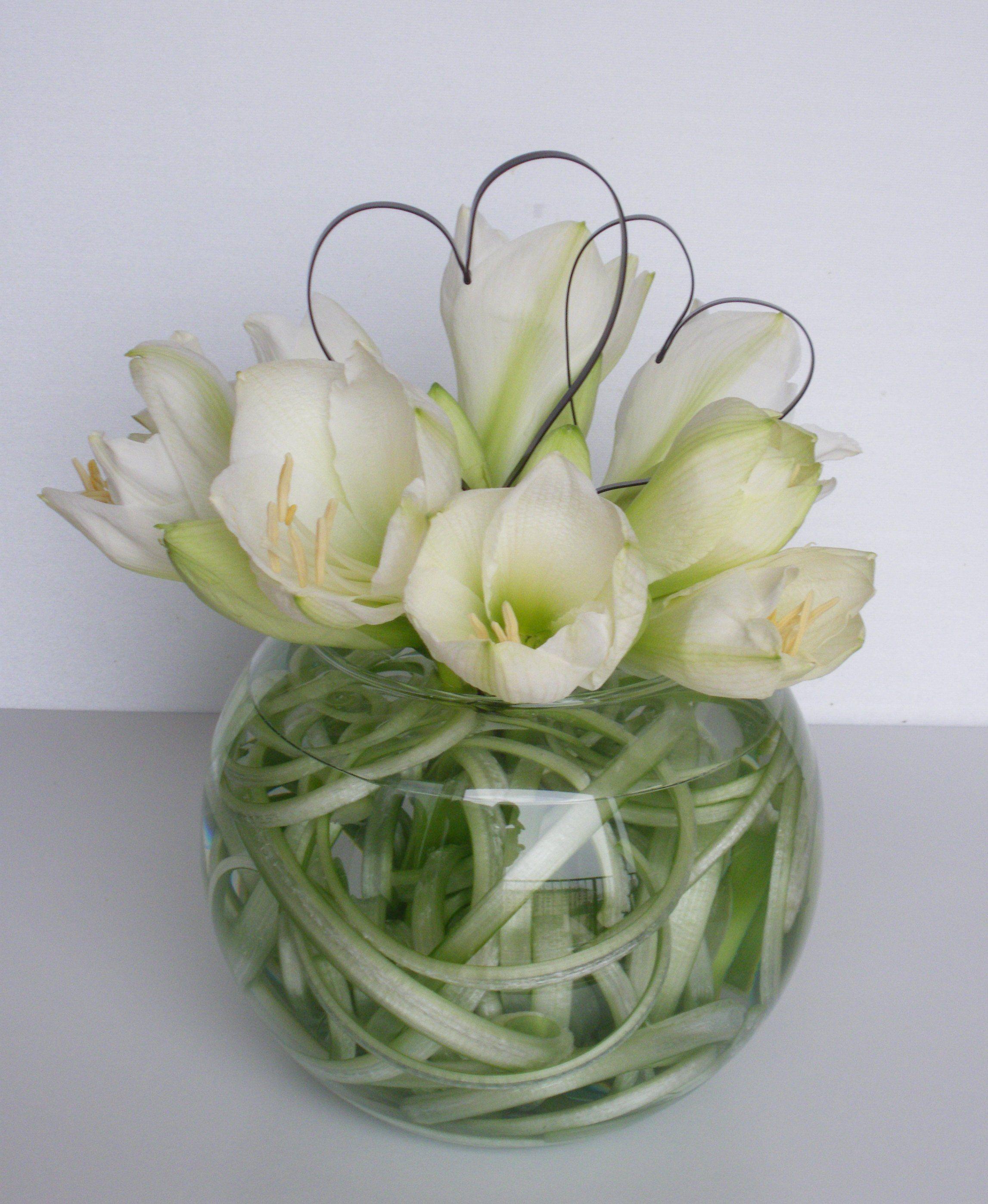 Tutoriel boule d 39 amour et coeurs art floral for Amaryllis de noel