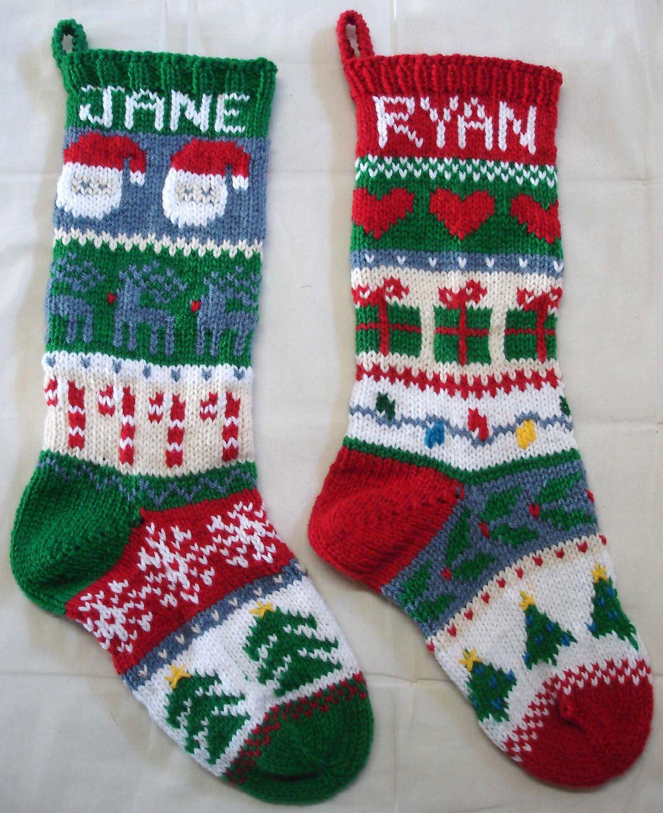 Ravelry: maggievanderstok's Christmas stockings   Knitted ...