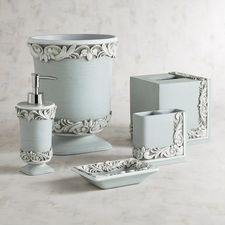 bathroom accessories. Leigha Blue Bathroom Accessories  bathroom Pinterest