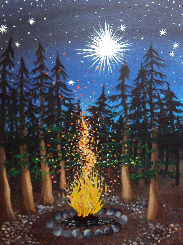 Campfire Painting Google Search Art Pinterest