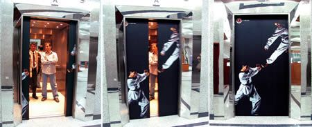 10 Clever Elevator Ads (Advertising on Elevators)  http://www.arcreactions.com/graphic-design-advanced-paramedics-ltd/