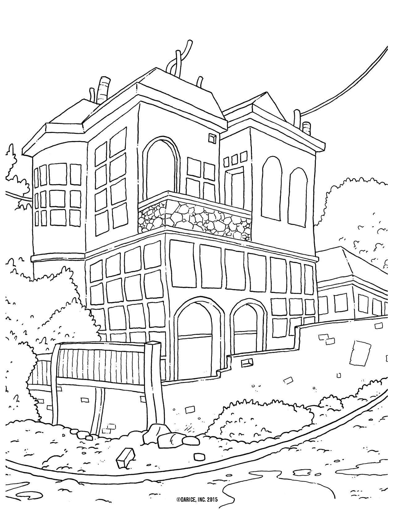 Find this pin and more on ✐adult colouringbuildingshouses cityscapeslandmarks