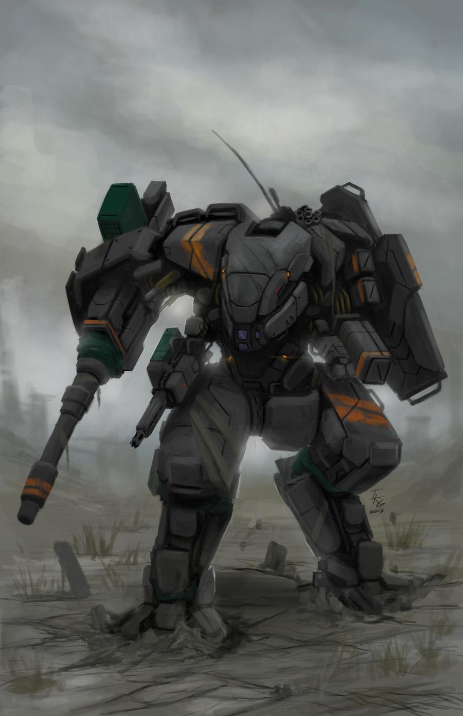 CGMA Mecha Contest Entry(Combat Mech) by ~ianskie1 on