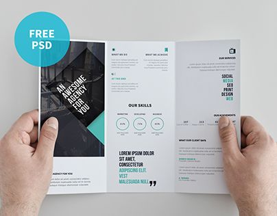 Smart,Clear and Clean Creative brochure template can used for all ...