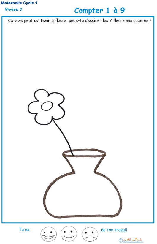 Compter et dessiner t te modeler num ration - Dessiner un vase ...