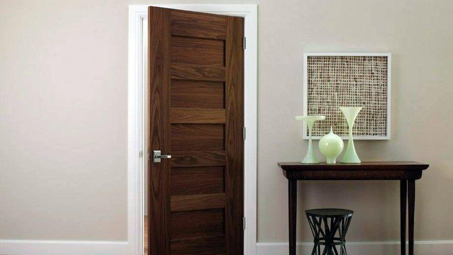 Minimalist Also Contemporary Door Model Aura Trustile Modern Door 5000 In Walnut With Horizontal Grain Walnut Panels By Trustile Doors Denver Aura Minimalist