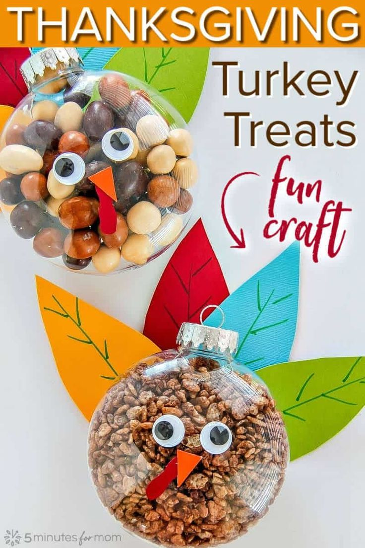 Turkey Treats for Thanksgiving  Easy Fall Craft - Easy fall crafts, Fall crafts, Thanksgiving activities for kids, Thanksgiving crafts, Holiday crafts diy, Crafts - This easy Turkey Treat is perfect for classroom gifts, decorating your mantel or Thanksgiving table  It is a simple fall craft to make with your kids