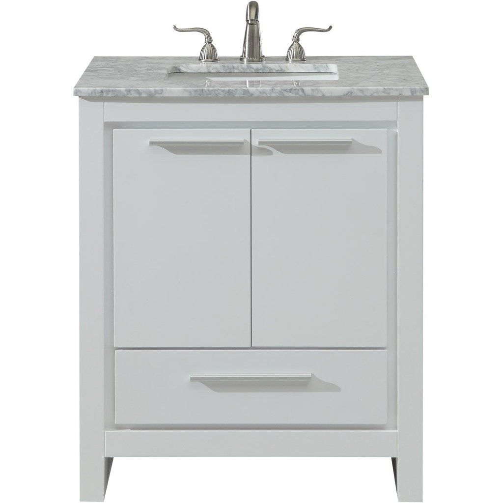 Filipo 30 X 35 1 Drawer 2 Door Vanity Cabinet White Finish Vf12830wh Single Bathroom Vanity Vanity Cabinet Vanity