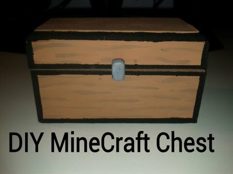 Diy Minecraft Chest Youtube Diy