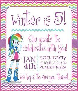 Equestria Girl Invite