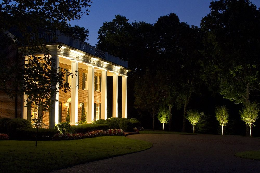 Belle Meade Architectural Led Lighting And Tree By