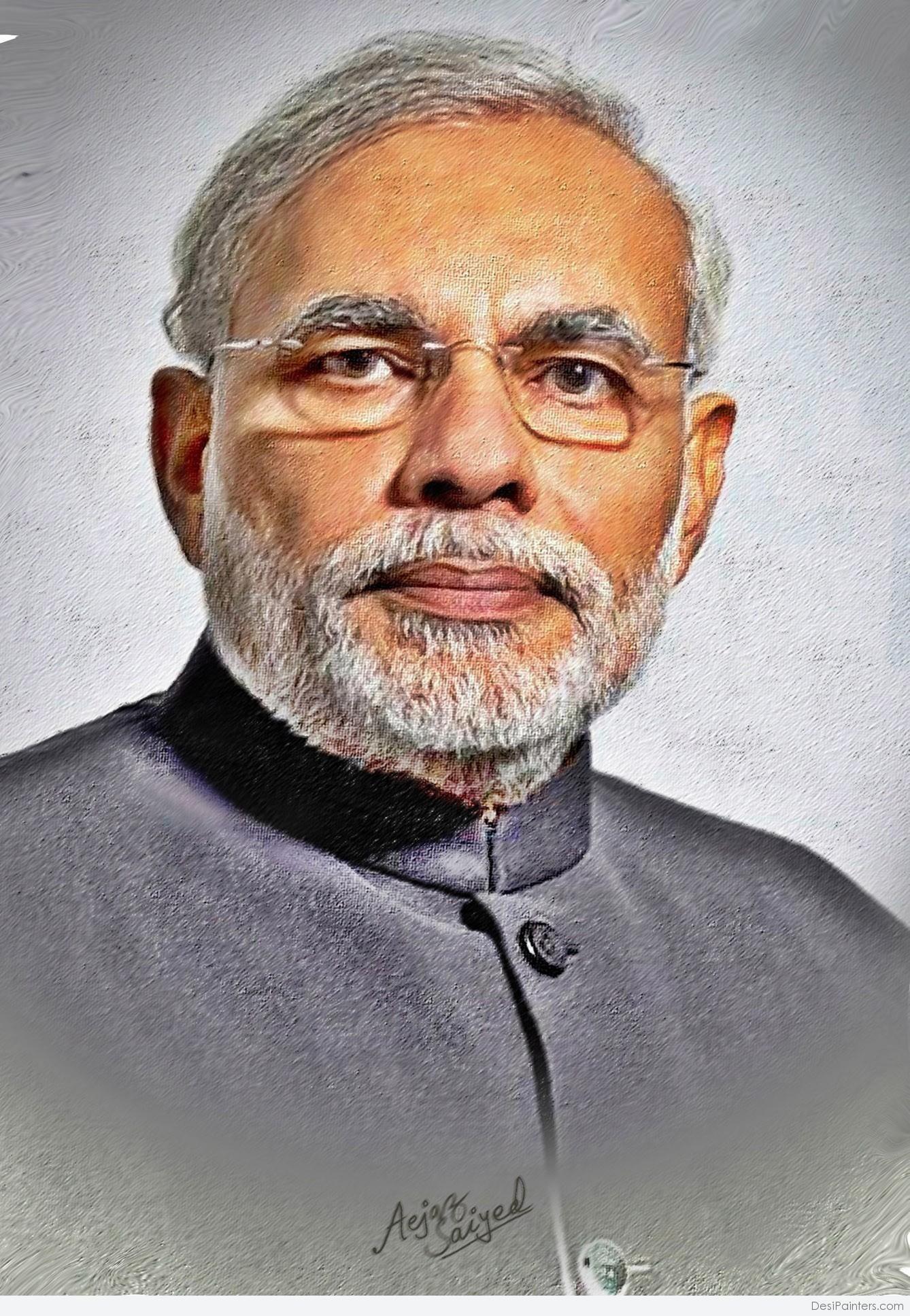 Digital Painting Of Honorable Pm Narendra Modi N D Modi