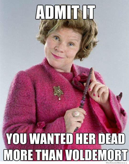 admit it you wanted her dead more than voldemort - Google Search