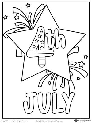 FREE 4th July Star Coloring Page Worksheet Of Printable
