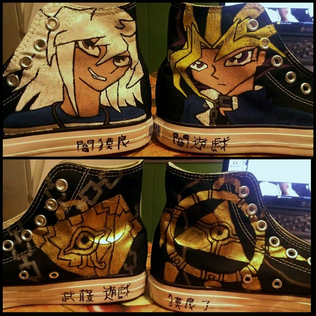 yu gi oh converse photo 1 yugioh ygo shoes ive designed