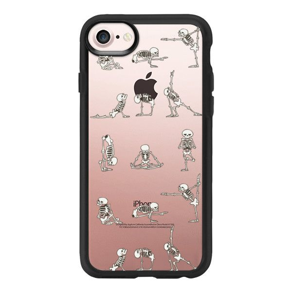 Skeleton Yoga iPhone 7 Case And Cover (40) liked on
