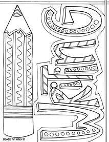 Free Writing Coloring Pages and printables from Classroom Doodles ...