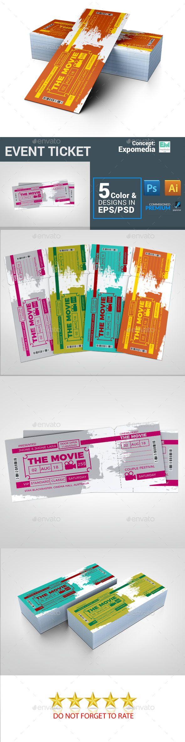 Cinema Ticket Movie Ticket Event Ticket Pinterest Cinema Ticket