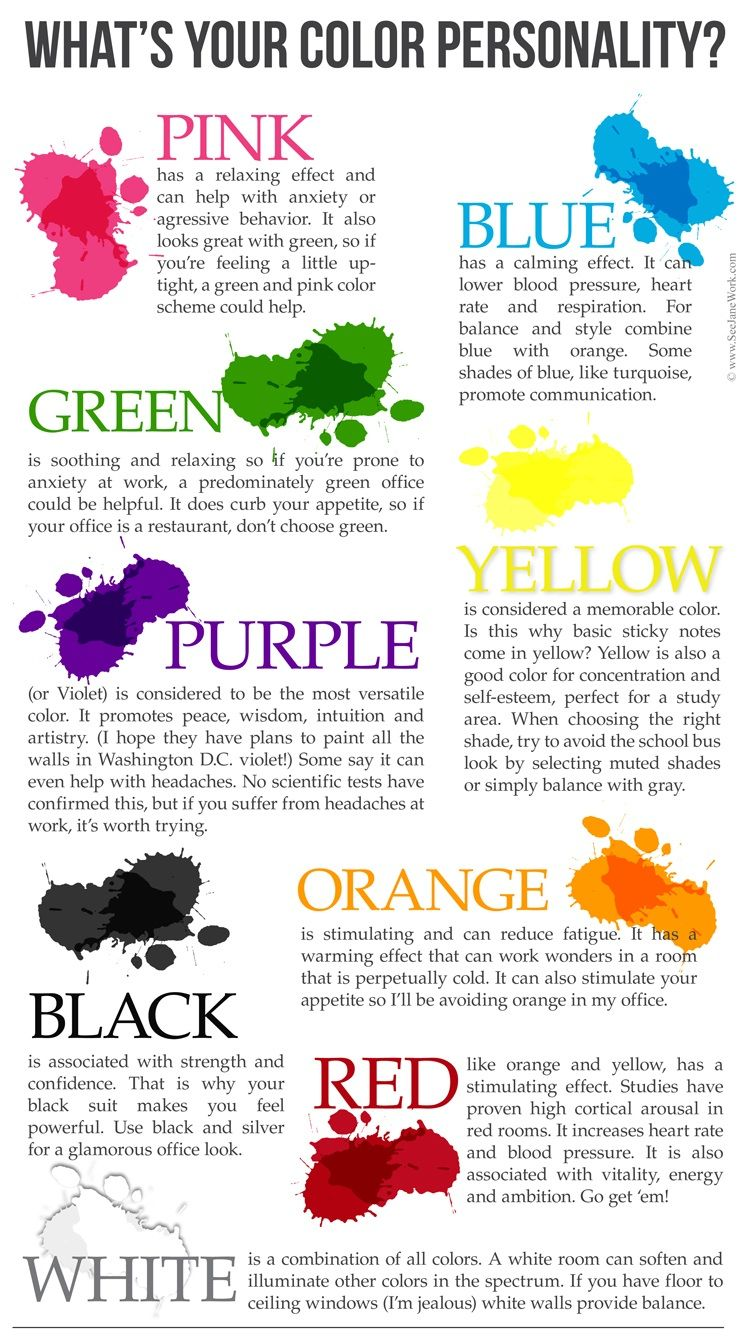Your Color Personality Color Meanings Color Psychology Colors And Emotions
