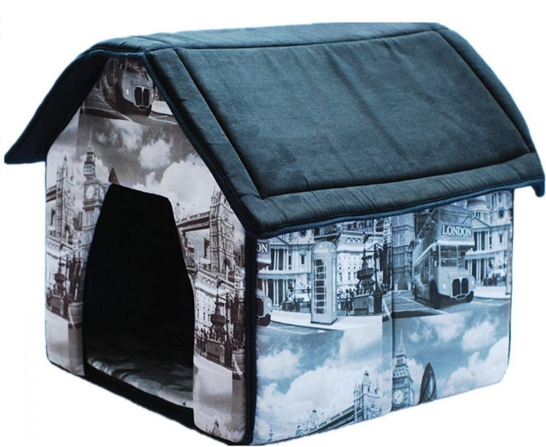 1 Set Excessive Modern Indoor Pet House Collapsible Couch Portable Bed Soft And Warm Fabric Style London Startling Review Available Here Dog House Indoo