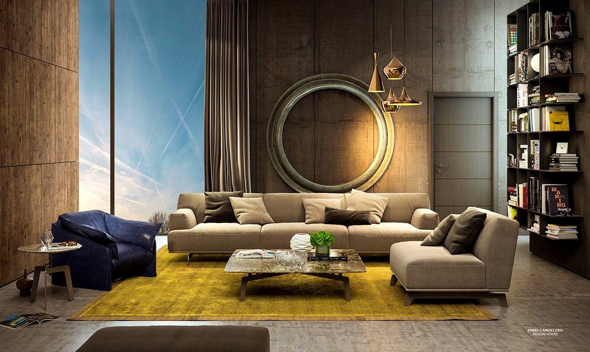 Apartmentslicious art deco living room interior design