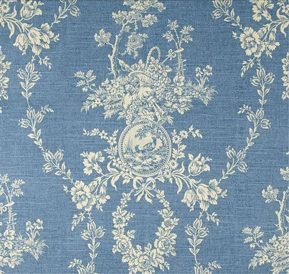 Waverly Country House Chambray Blue Cream Cameo Toile Home