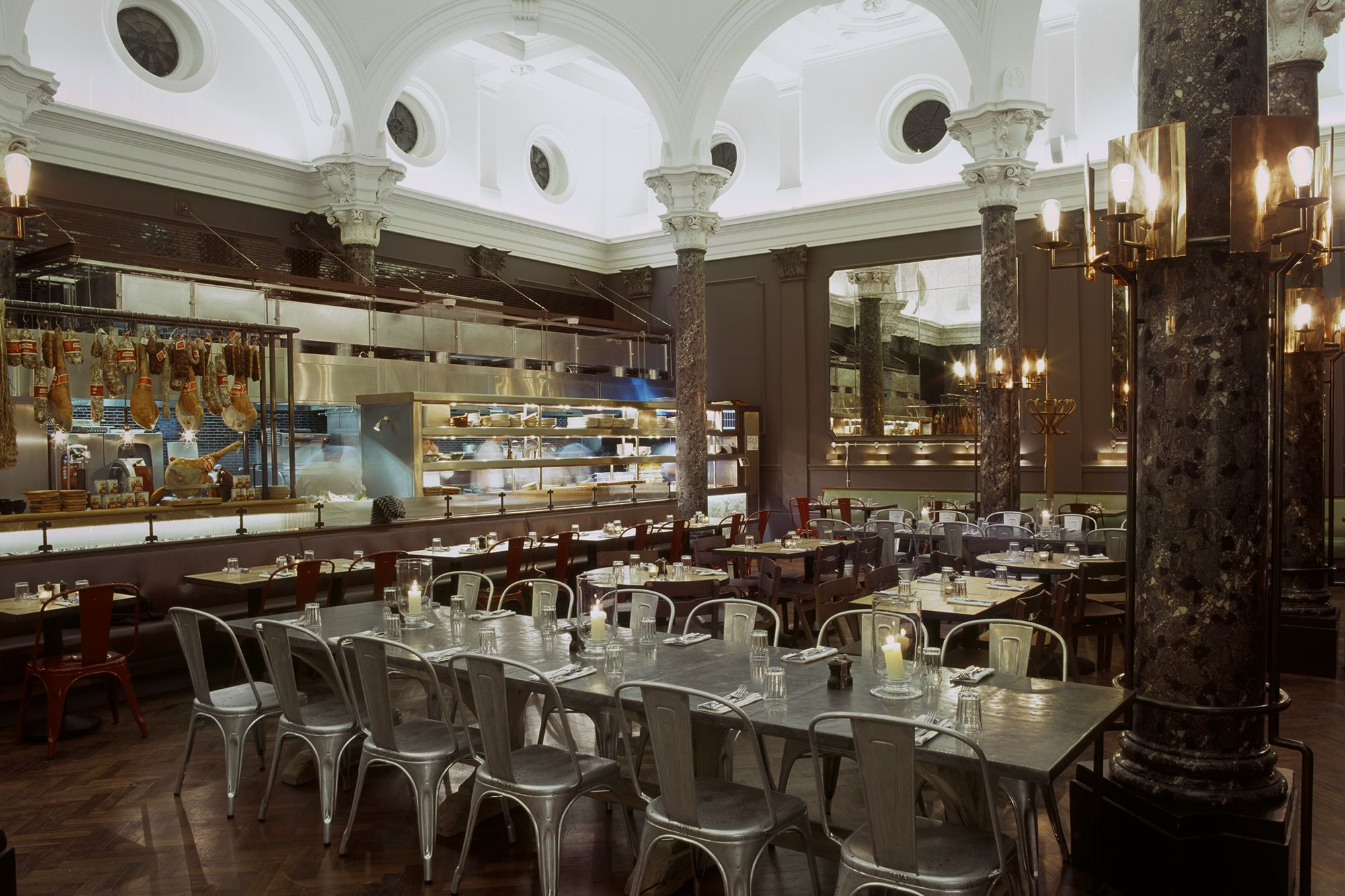 antipasti bar and open kitchen in the cambridge restaurant