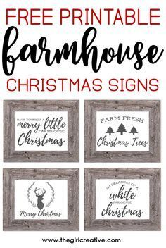 Free Printable Farmhouse Signs : printable, farmhouse, signs, Printable, Farmhouse, Christmas, Signs, Creative, Printables,, Signs,