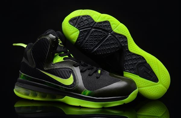 new arrival 3360a 25b92 Nike Air Max LeBron James 9 Black Green Basketball shoes