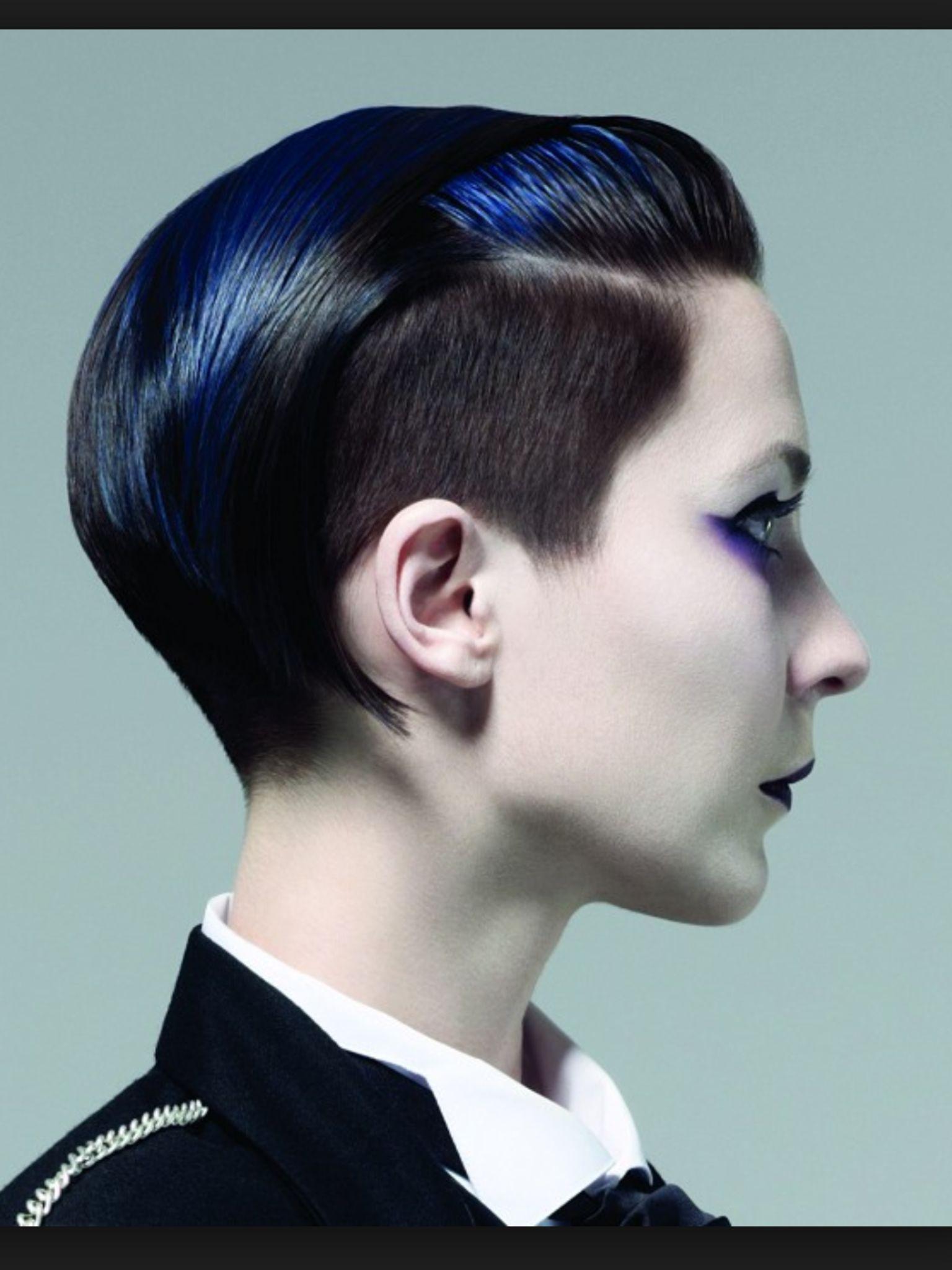 Tapered edgy undercut long fringe | hair cut | Pinterest ...