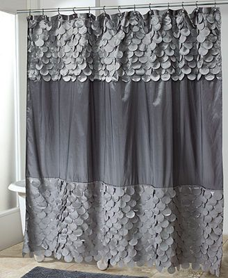 Avanti Bath Accessories Flutter Dots Shower Curtain Granite