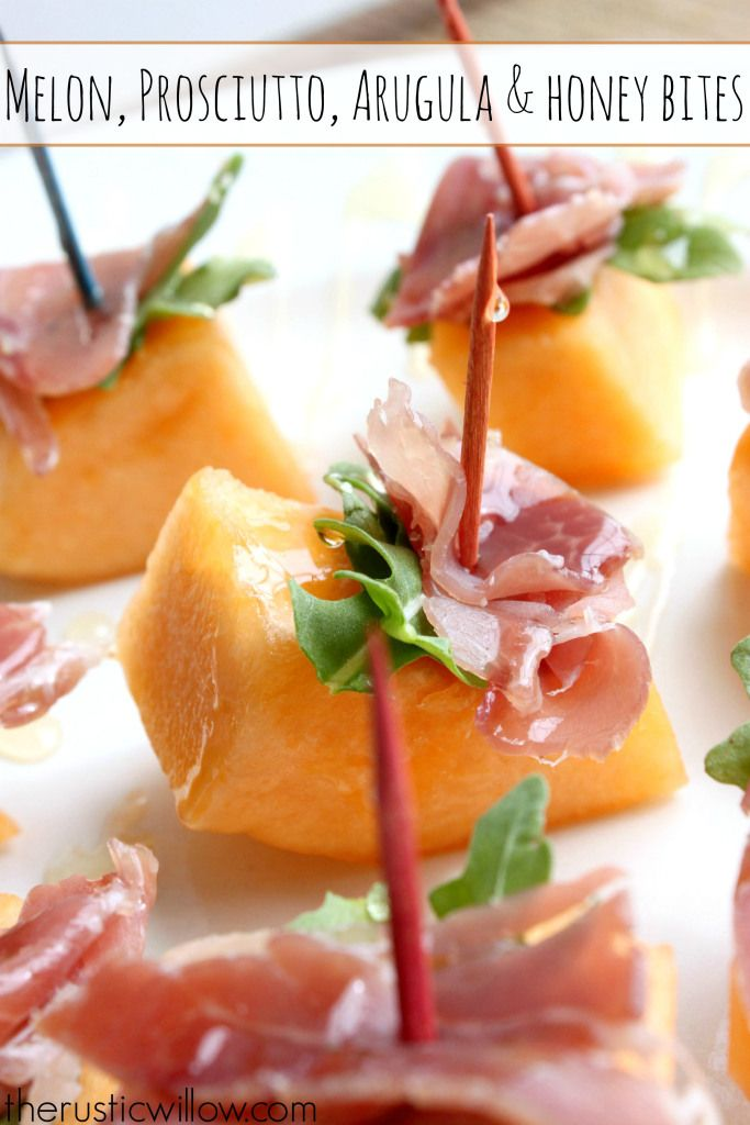 Melon And Prosciutto Stacks With Arugula And Honey The Rustic Willow Diy Food Recipes Prosciutto Diy Easy Recipes