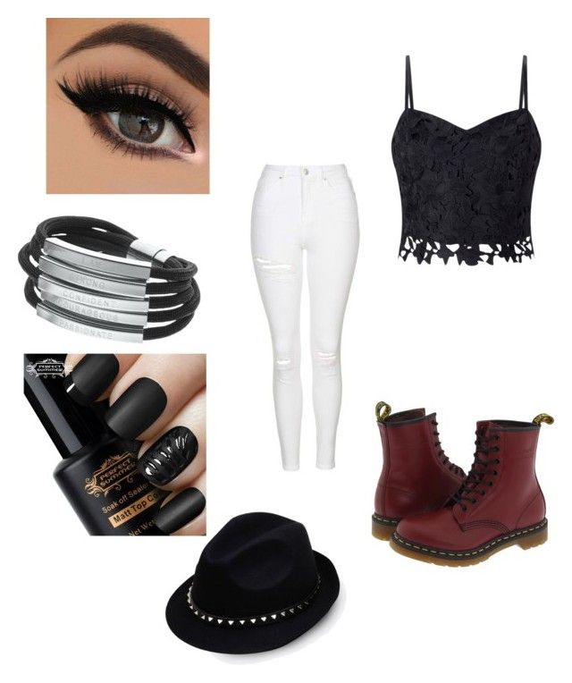 """riff off"" by elizabethallis-1 ❤ liked on Polyvore featuring Topshop, Dr. Martens, Valentino and Lipsy"