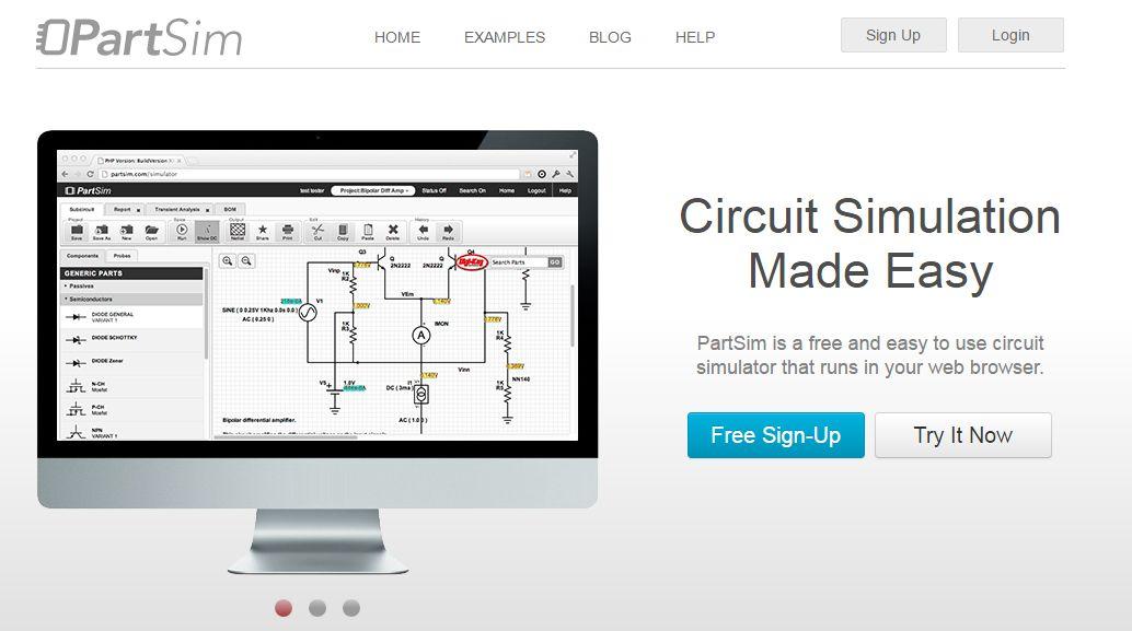 PartSim Circuit Simulator Tools Pinterest Circuits
