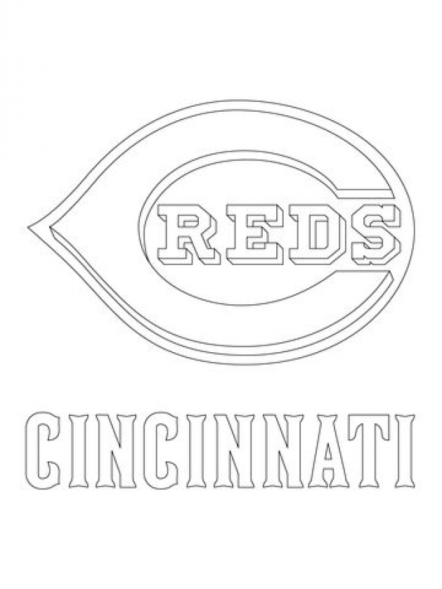 Cincinnati Reds Logo Coloring Page Free Printable Coloring Pages Kidswoodcrafts In 2020 Free Printable Coloring Pages Printable Coloring Pages Coloring Pages